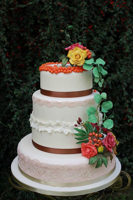 Autumn Wedding Cake by Jurate Smaile of Jurate's Cakes Dungarvan