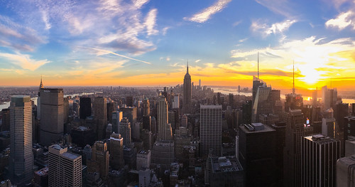 New York Skyline From Top of The Rock