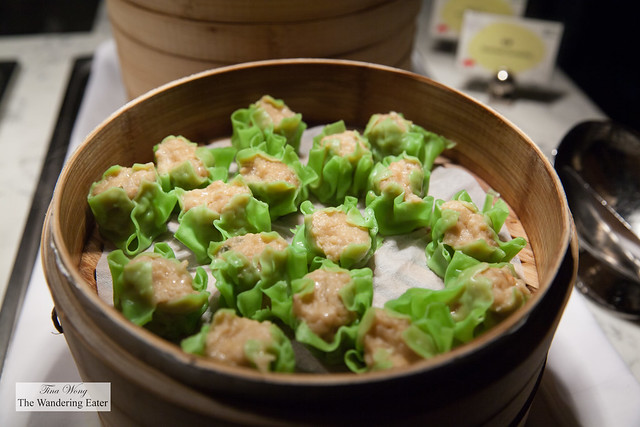 Steamed shu mai at Garden Kitchen