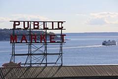 Pike Place Market & Puget Sound