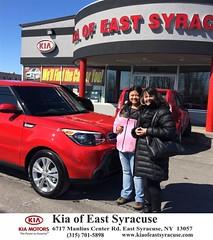 #HappyBirthday Pamela from Eduardo Castillo at Kia of East Syracuse!
