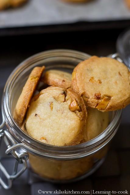 Eggless Pista Cookies