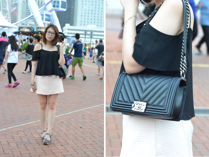 Daisybutter - Hong Kong Lifestyle and Fashion Blog: what i wore, chanel boy outfit post, victoria harbour, hong kong outfit blogger