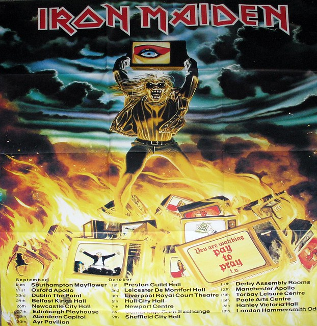"IRON MAIDEN HOLY SMOKE GIANT POSTER 12"" MAXI SINGLE MINT"