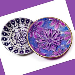 polymer clay Ring Dishes/Bowls