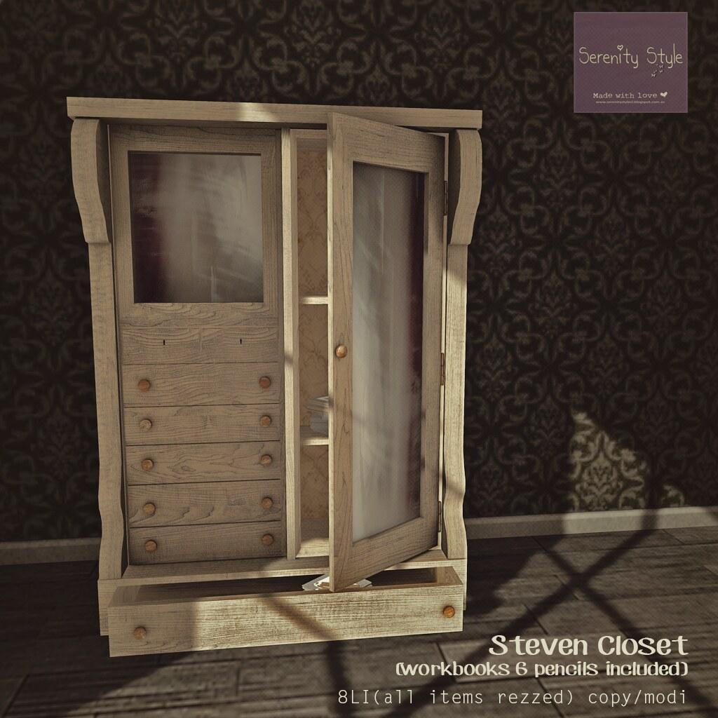 Serenity Style- Steven Closet - Gold Peatonville Prize