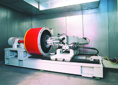 Bi-Axle testing machine @ BBS in Germany