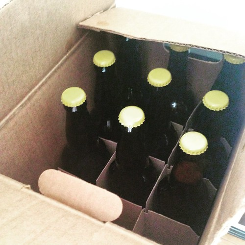 Packaged 21 × 22 oz. bottles of the all-NZ-hopped IPA. See you in 2 weeks! #homebrewing