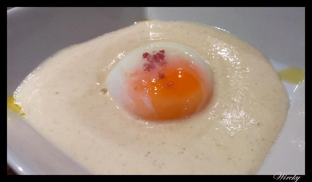 Huevo confitado