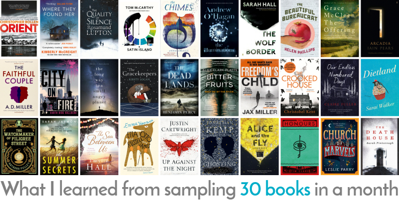 What I learned from sampling 30 books in a month