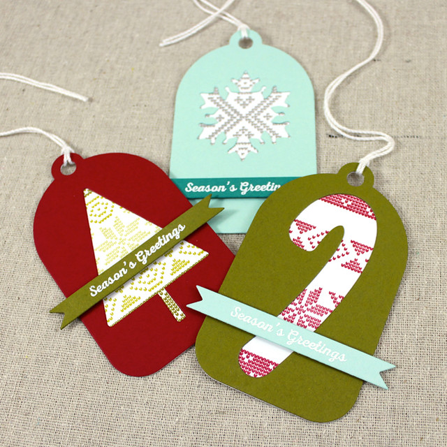 Fair Isle Christmas Tags 2