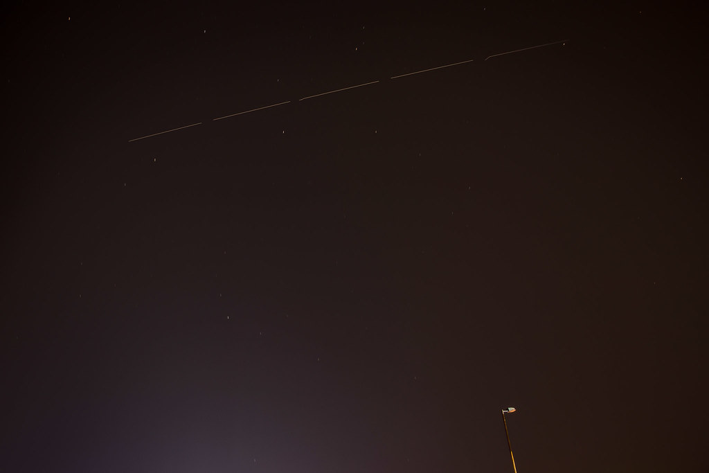 ISS and a lone, non functioning street light