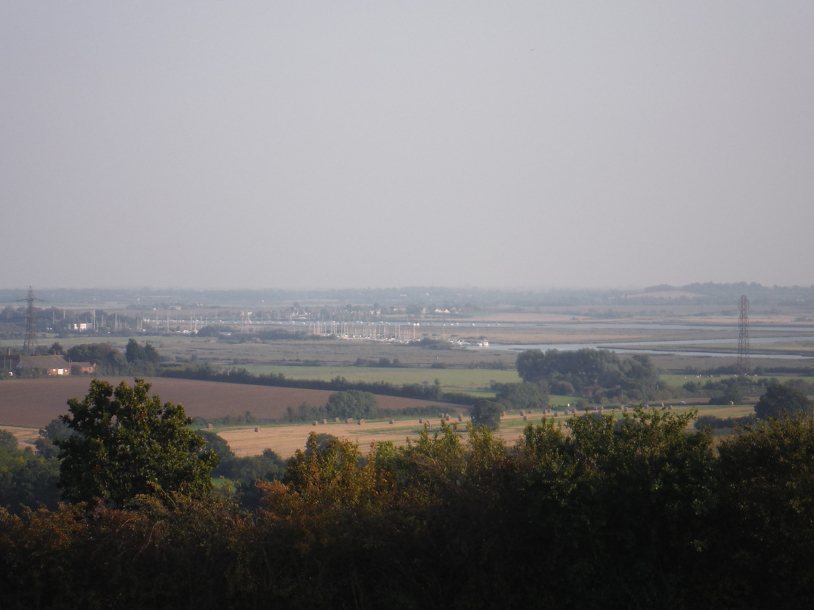 View over The Crouch Valley, with North Fambridge Marina SWC Walk 159 South Woodham Ferrers to North Fambridge