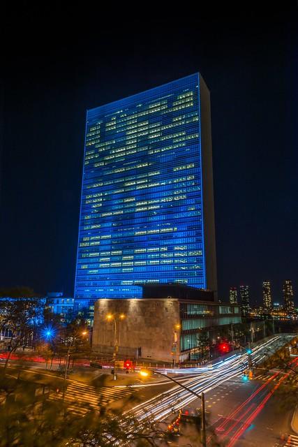 El mundo se tiñe de azul #ONU70