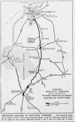 1953 Plan for the Kentucky Turnpike