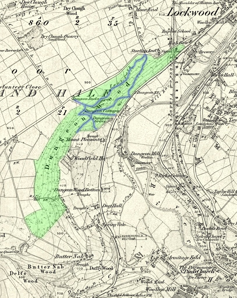 1854 map of Dungeon Wood