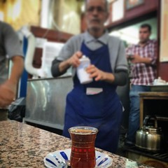 Couldn't resist leaving #kuwait without drinking Iranian tea for one more time at Shamam restaurant