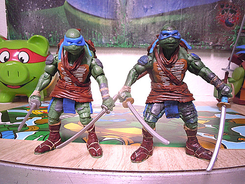 "Nickelodeon ""HISTORY OF TEENAGE MUTANT NINJA TURTLES"" FEATURING LEONARDO - Nick LEONARDO vi / ..with Paramount TMNT Movie LEONARDO '14 iii / ..with Paramount Movie LEO '14 (( 2015 ))"