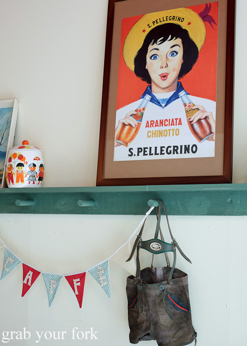 Vintage posters and bunting inside Ciccone & Sons Gelateria, Redfern Sydney food blog review