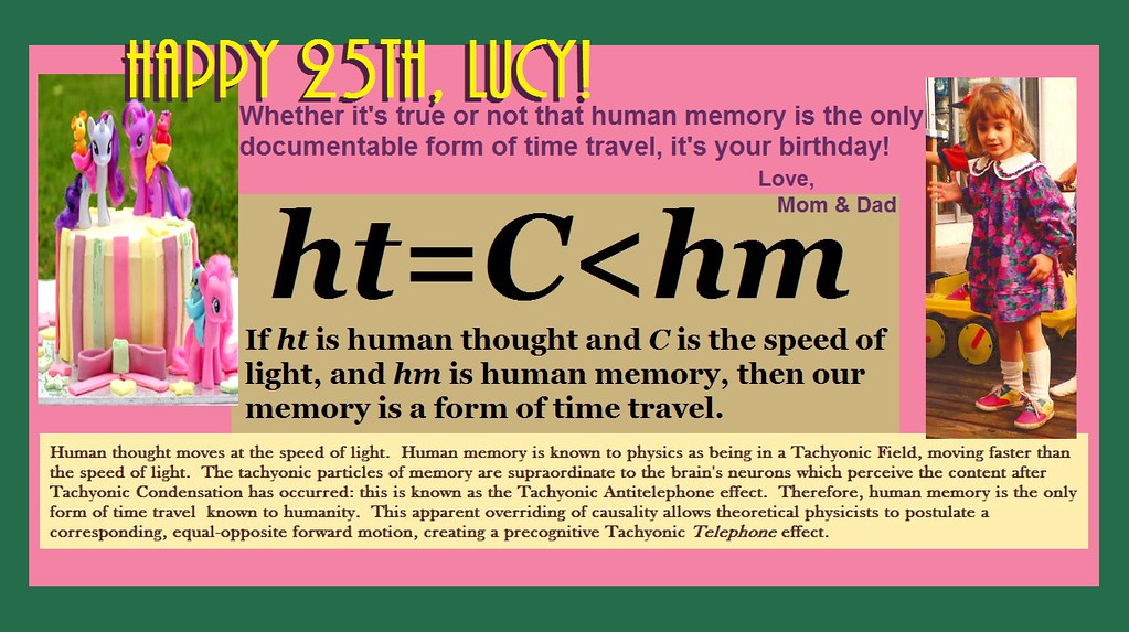 Happy Birthday Lucy Time Travel Axiom Formulated With In Flickr