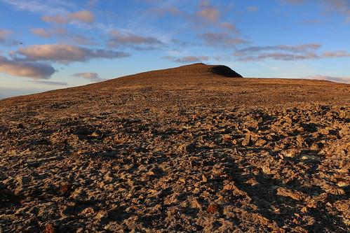 jörundarfell vatnsdalsfjall mountain peak sky clouds rocks barren iceland october 2018