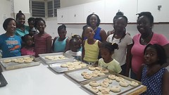 The Girls Brigaders learned how to make johnny cakes. They had so much fun and the johnny cakes were yummy. #myanguillaexperience #warmthofanguilla