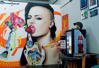 Un pequeño adelanto de lo que ya esta casi listo @0295ink ..... Foto: @abrahanjc @christymack . @bishoprotary .  #art #sprayart #streetart #street #margarita #caracas #ccs #montanacolors #mtn2016 #mtn2016 #mtn94 #valencia #maracay #maracaibo #peru #b