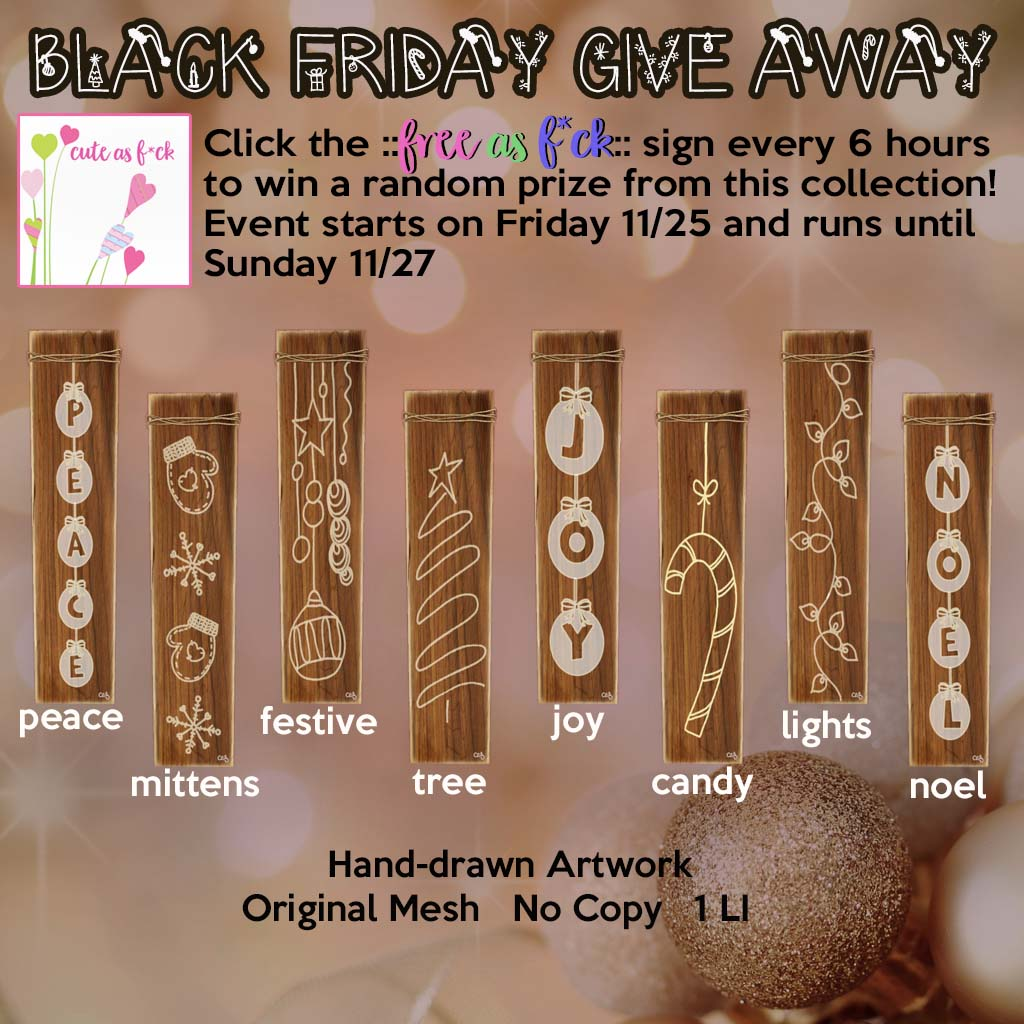 ::cute as f*ck:: Black Friday Give Away