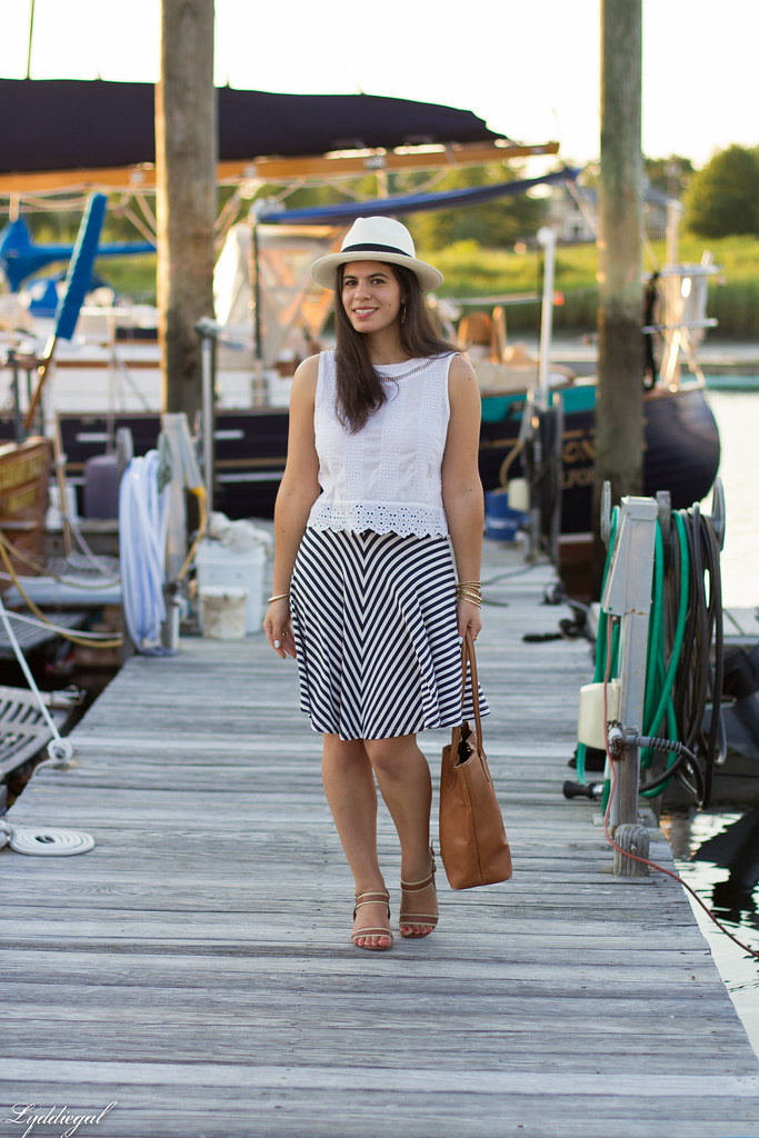 white eyelet lace crop top, striped skirt, panama hat-2.jpg