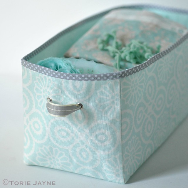 DIY fabric drawer