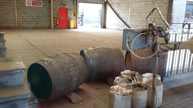 Filling casks at Glenfarclas distillery
