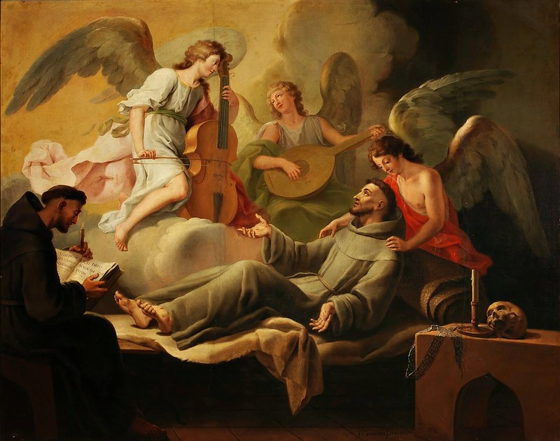 José Camarón Bonanat - S. Francesco confortato dagli angeli (1788)