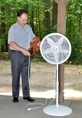 The day wast warm and humid and member Ken Brown was thoughtful to bring 2 fans to move the air.