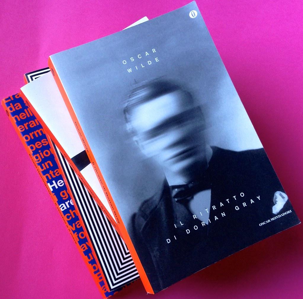 Oscar Mondadori / ied: edizione speciale di 10 titoli per i 50 anni degli Oscar. Art direction: Giacomo Callo. Copertina e dorsi di 4 titoli (part.) 4