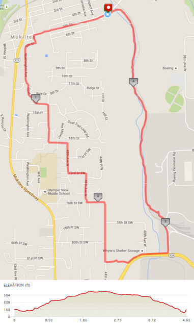 """Today""""s awesome walk, 4.65 miles in 1:30, 10,007 steps, 463ft gain"""