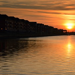 Setting Sun over Preston Docks