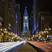 philadelphia pennsylvania city hall - downtown philly light trails by Dan Anderson.