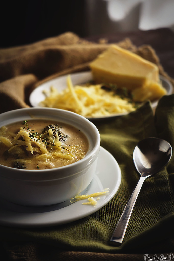 Cheesy Chicken and Broccoli Soup {Girl Carnivore}