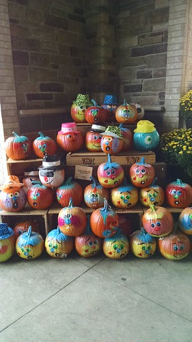 A Pile of Painted Pumpkins