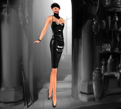 :V.e. Jasmine Latex Dress Noir