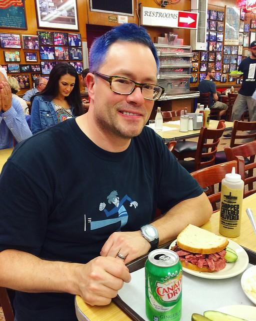 J at Katz's deli