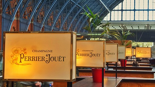 Perrier-Jouet Champagne Bar at St. Pancras International Station, London