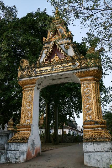 Gate of Wat That Luang, Luang Prabang, laos ルアンパバーン、ワット・タートルアンの門
