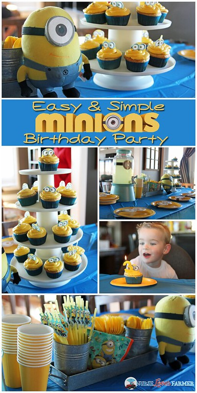 "Easy & simple Minions Birthday Party! You don't have to go ""all out"" to have a cute birthday party. Simple steps for a fun and cute Minions party!"