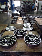 BBS RF wheel after the initial die-forging process