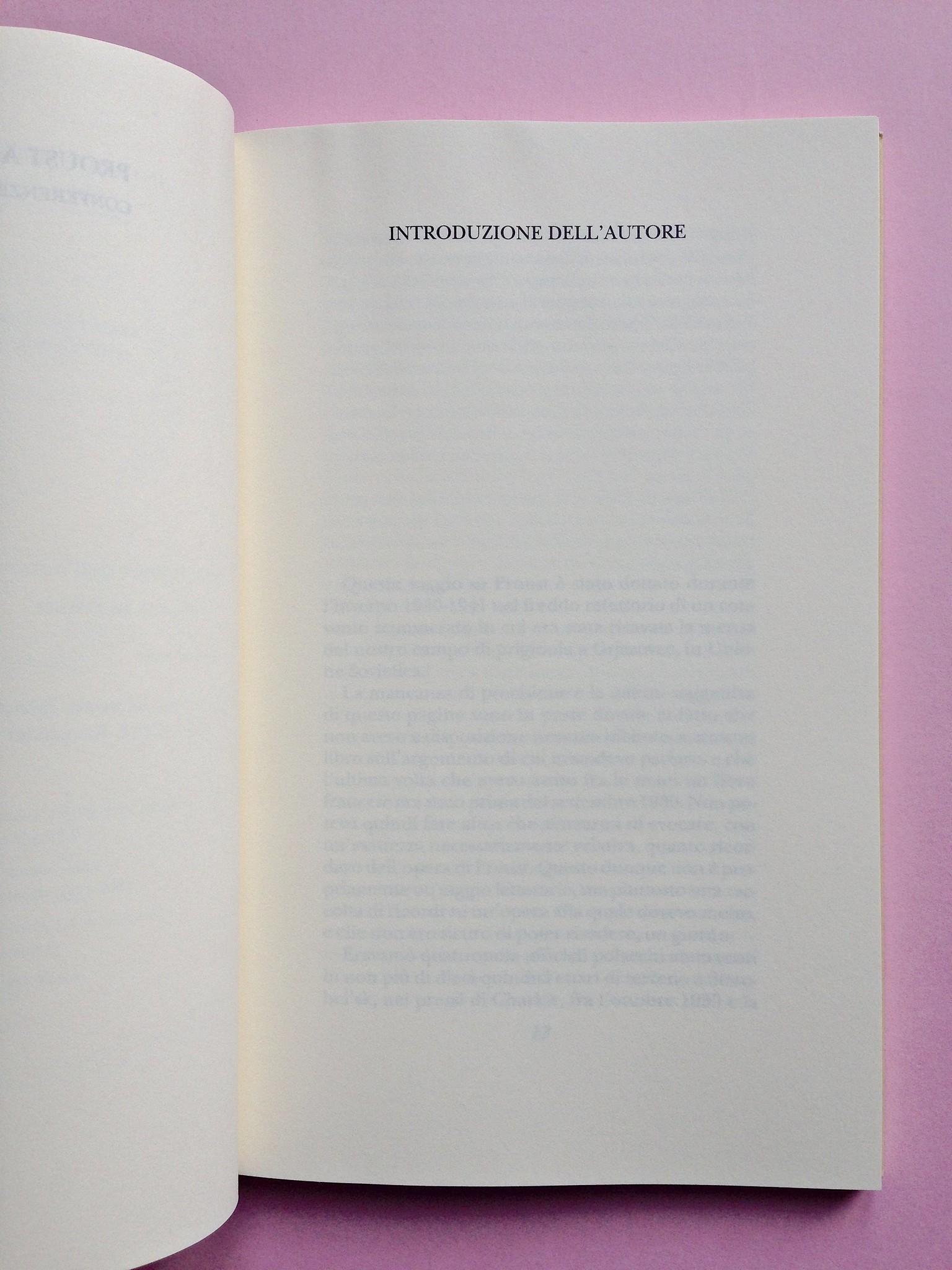 Proust a Grjazovec, di Józef Czapski. Adelphi 2015. Resp. grafica non indicata. Titolo di parte del testo, a stampatello, in capo alla pagina, a pag. 11 (part.), 1