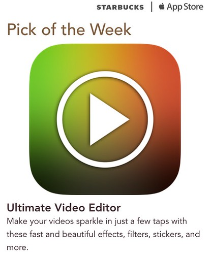 Srarbucks iTunes Pick of the Week - Ultimate Video Editor