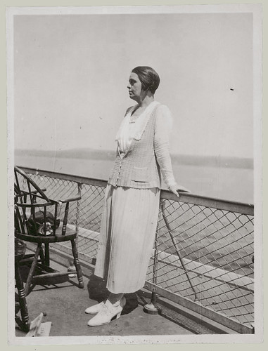 Woman on the observation deck