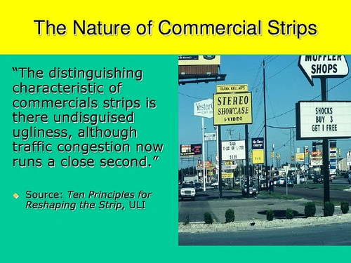 Nature of commercial strips, slide from a presentation by Ed McMahon