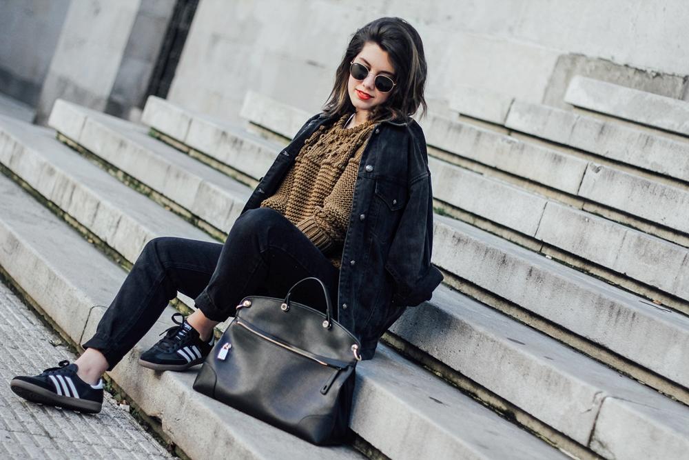 denim jacket with mom jeans furla bag myblueberrynightsblog